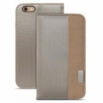Чехол для iPhone 6 Plus Moshi Overture Wallet Case Brushed Titanium (99MO052242) (21218)